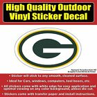 Green Bay Packers G Football Vinyl Car Window Laptop Bumper Sticker Decal $8.50 USD on eBay
