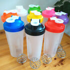 Durable 600ml BPAfree Protein Blender Shaker Mixer Cup Drink Whisk Bottle ca #