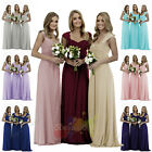 New Long Chiffon Formal Gown Ball Party Cocktail Evening Prom Bridesmaid Dress