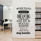 Office Motivational Quotes Wall Sticker Never Give Up Work H