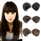 100% Human Hair Clip in Neat Bangs Front Fringes Thick Hairpiece Hair Extensions