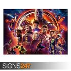 MARVEL AVENGERS INFINITY WAR (ZZ031)  MOVIE POSTER Poster Print Art A1 A2 A3