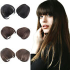 Clip in 100% Human Hair Thick Neat Bangs Front Fringe Hair Piece For Women Girls