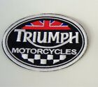 PATCH TRIUMPH MOTORCYCLES EMBROIDERY EMBROIDERED THERMOADHESIVE cm 9 width €4.18 EUR on eBay