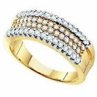 0.75 Carat  14 ct Yellow Gold  Cognac  Diamond Cocktail Right H Fashion B 3/4 CT