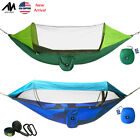 Outdoor Nylon Mosquito Net Hammock Camping Portable Hanging Sleep Bed 2 Person