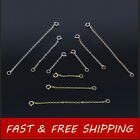 NEW Gold Plated Silver Extender Safety Link Chains Necklace Bracelet Spring lock image