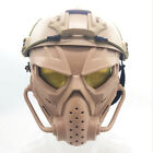 Tactical Airsoft Steel Mesh Half Mask TPE Lower Face Fit for FAST Helmets BK