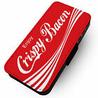 Enjoy Crispy Bacon - Faux Leather Flip Phone Cover Case - Coca Cola Parody Funny £9.75  on eBay