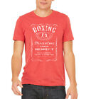 Mens Boxing Whiskey Label Tri-Blend Red T Shirt C1 Fighting MMA Kickboxing SALE! image