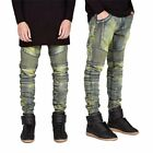 Fashion Classic Men's Slim Fit Straight Biker Jeans Trousers Casual  Skinny-MY