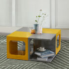 High Gloss Coffee Table Small Table Side End Table Living Room Modern Square
