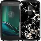 Marble Design Hybrid Armor Case Phone Cover for Motorola Moto G4 / Moto G4 Plus