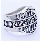 HARLEY-DAVIDSON MOTORCYCLES BIKER BAR & SHIELD  925 STERLING SILVER RING $37.95 USD on eBay