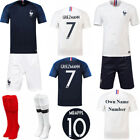 2018 Soccer Club Kit Kids Boys Youth Jersey Team Suit Short Sleeve+Socks Outfit