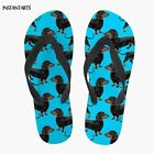 3D Animal Puppy Dachshund Print Woman Summer Flip Flops Casual Beach Slippers Bl, used for sale  China