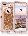 iPhone Xs Max Xr X 8+ Glitter Quicksand Flowing Liquid Full-Body Protective Case