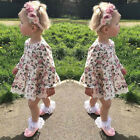 Toddler Girls Lace Floral Long Sleeve Beautiful Princess Skater Dress Set  юбка