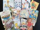 BB89 -- Lot of 12 Vintage Mother's Day Greeting Card  DIE CUTS for CARD MAKING