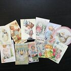 BB84 -- Lot of 11 Vintage Easter Greeting Card  DIE CUTS for CARD MAKING