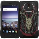 For ZTE Avid Trio / Avid Plus / ZFive 2 Case Rugged Hybrid Kickstand Phone Cover