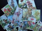 BB31B Lot of 13 Vintage Flower Fairies #B DIE CUTS for CARD MAKING Free Shipping