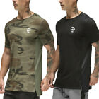 US Stock Men's Thermal Sports Camouflage Comfy Shirts Vintage O-Neck Biker Fit