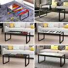 6mm Tempered Glass Coffee Table With Metal Frame End Side Sofa Table Uk New
