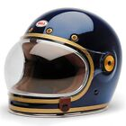 Bell Bullitt Carbon Candy Blue Retro Special Edition Full Face Motorcycle Helmet