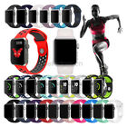 Silicone Sport Watch Band Strap For Apple Watch iWatch 4 3 2 40mm 44mm 38mm 42mm image