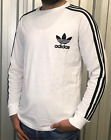 ADIDAS PIQUE LONG SLEEVED 3 STRIPES T-SHIRT Tops <br/> LIMITED TIME OFFER -- CRAZY SALE -- SPECIAL PRICE