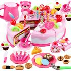 DIY Fruit Cutting Baby Toy Pizza Slice Party Birthday Cake Kitchen Play Gift Set