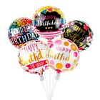 5PCS 18'' Happy Birthday Aluminum Foil Balloons Helium Air Wedding Party Decor