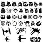 Star Wars Stickers Vinyl Decal Kids Childrens Bedroom Cups Lunch Box Made In Uk