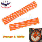 72Pcs Motorcycle Dirt Bike Spoke Skin Covers Wraps Wheel Rim Guard Protector New