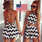 women one piece backless striped short pants