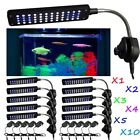 1-10pcs Clip Lamp Light High Lumen 48 LED Aquarium Fish Tank White & Blue LOT MA