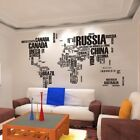 World Map Quote Vinyl Decal Art Mural Home Decor Wall Stickers Removable Letter