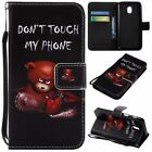 Angry Bear Pu Leather Wallet Case Flip Cover Kickstand Card Slot For Cell Phones