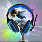 3.5mm Adjustable Gaming Headphones Stereo Noise-canceling Computer Headset /~