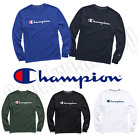 New Authentic Champion Men Jersey Script Logo Long Sleeves T-Shirt GT78H Y06794 image