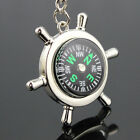 Portable Rudder Keychain Ring Precise Compass Camping Hiking Hunting Black