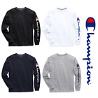 New Authentic Champion Men Jersey Sleeve Script Logo Long Sleeves T-Shirt GT78H image