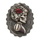 Steampunk Sugar Skull Wall Stand Plaque Skeleton Gothic Decoration Figurine Gift