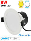 IP44 Outdoor Soffit Dimmable 8W LED Downlights Spotlights Lights Warm Cool White