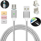 Braided Magnetic Lightning USB Charger Charging Cable For Android Samsung/LG