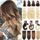 50cm in inch - Thick Weft Clip In Real Natural Hair Extensions Full Head highlight 3 Pieces USA