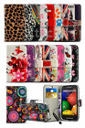 Alcatel One Touch Pixi 3 (4.5) 4027 - Printed Pattern Design Wallet Case & Mini