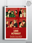 LOVE ACTUALLY - Minimalist Christmas Movie Poster Minimal Xmas Film Posteritty