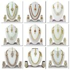 Indian Bollywood Fashion Bridal Gold Plated Wedding Long Pearl Necklace Jewelry